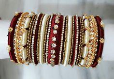 Silk thread bangle designs - Latest Jewellery Design for Women Silk Thread Bangles Design, Silk Bangles, Bridal Bangles, Thread Jewellery, Indian Bangles, Bridal Jewellery, Princess Jewelry, Bollywood, Bangle Set