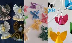 Lots of angel ideas Hobbies And Crafts, Diy And Crafts, 3d Origami, Quilling Art, Hand Fan, Advent, Christmas Holidays, Art Projects, Blog