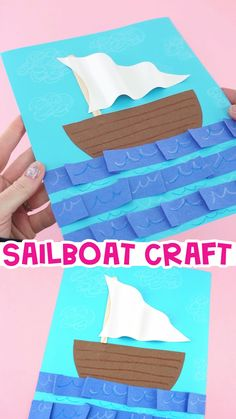 Crafts Have an afternoon full of adventure this summer by making this easy paper boat craft. Our free printable template makes this sailboat craft super simple for preschoolers and kids of all ages to create. Fun and easy summer crafts for kids. Boat Crafts, Summer Crafts For Kids, Paper Crafts For Kids, Crafts For Kids To Make, Craft Activities For Kids, Preschool Crafts, Art For Kids, Kids Fun, Summer Crafts For Preschoolers