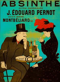 Tonight I collected some cool Absinthe retro posters. I picked out my favourites among hundreds of absinthe retro posters. Vintage French Posters, Pub Vintage, Vintage Labels, Vintage Decor, Belle Epoque, Jugendstil Design, Green Fairy, Poster Ads, Advertising Poster
