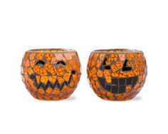 Mosaic Candle Holder - Pumpkins