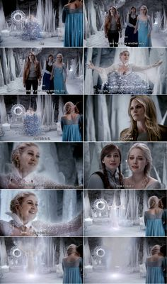 """""""Long ago, a prophecy told me you would lead me to just that, Emma. And this is it. All I wanted was to have my sisters love, and.. Now i have it. Now.. I'll join them."""" Snow Queen , Emma and Elsa - 4 * 10 """"Shattered Sight"""" )':"""