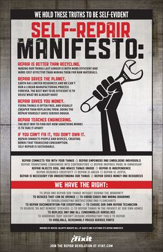 Self Repair Manifesto: If you can´t fix it, you don´t own it! ;-)
