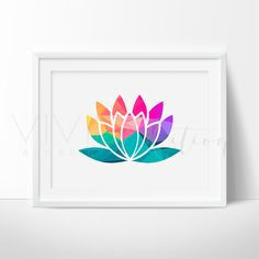 - Description - Specs - Processing + Shipping - Geometric Lotus Flower Art Print. Our designs make an attractive, modern contemporary wall piece for your baby nursery, home, office or even as a gift.