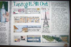 Sketchbook Journal Layout Page, via Flickr.