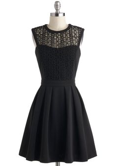 Starlit Statement Dress. While others step outside of the gala to share romantic moments, you sneak out with a swish of this black dress byPink Martini for time to yourself. #black #modcloth