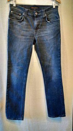 Nudie Jeans 'Thin Finn Black Dust Skinny Organic Cotton Blend Sz 32/32 #Nudie #Skinny
