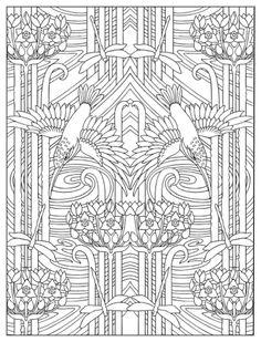 Art Nouveau Designs Coloring Book, Dover Publications