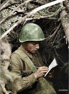Soviet Lieutenant SE Kazhdan - killed 25 enemy soldier's WWII | by Za Rodinu