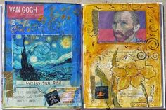 Nancy Standlee Fine Art: Altered Book ~ Vincent Van Gogh: Brush With Genius by Texas Daily Painter Nancy Standlee