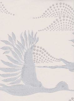 Avaruuslintu wallpaper designed by Ritva Kronlund