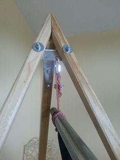 Modified top bracing of a TurtleDog Hammock Stand