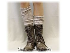 """The ultimate boot socks for FALL!     New Nordic Oatmeal  Basic tall knee socks for all boot styles """"Alpine Collection"""" MADE IN AMERICA  by Catherine Cole Studio BKS0 $20.00"""