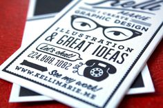 Awesome business card design by Kelli Marie...amazing that she made this while still a student!