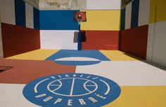 Street ball court in Paris (rue Duperré) redesigned by ill Studio commissioned by Pigalle and Nike