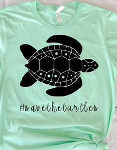 Excited to share this item from my shop: Save the turtles Tshirt, Sea Turtle Shirt, Turtle Tee Turtle Quotes, T Shirt Fundraiser, Save The Sea Turtles, Turtle Shirts, Save Wildlife, Vsco, Vinyl Shirts, Custom Shirts, Unisex