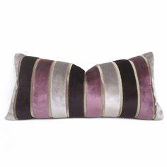 Aloriam Pillows offers custom made designer decorative pillow covers in fabrics from Robert Allen, Duralee, Kravet, Lee Jofa & more. Red Pillows, Velvet Pillows, Throw Pillows, Purple Velvet, Purple Grey, Wide Stripes, Decorative Pillow Covers, Fabric Samples, Pillow Design