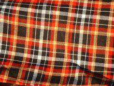 Newsboy Cap - Cotton - Black-Orange Plaid - VL