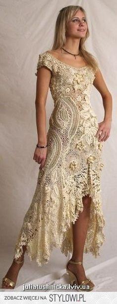 54 Ideas Crochet Patterns Dress Wedding Irish Lace For 2019 Beau Crochet, Mode Crochet, Irish Crochet, Crochet Lace, Crochet Wedding Dress Pattern, Crochet Style, Freeform Crochet, Irish Lace, Beautiful Crochet