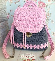 Bolsa con malla de alambre Source by de croche fio de malha Crochet Backpack, Crochet Tote, Crochet Cross, Crochet Handbags, Crochet Purses, Diy Crochet, Crotchet Bags, Knitted Bags, Crochet Designs