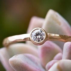 White Diamond Engagement Ring in Recycled 14k Gold - Conflict Free Diamond - As Seen in Vogue Mexico - Wedding Jewelry de ChristineMighion en Etsy https://www.etsy.com/es/listing/73081189/white-diamond-engagement-ring-in