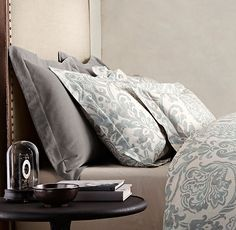 RH's Italian Fiore Bedding Collection:FREE SHIPPINGFramed by scrolling leaves…