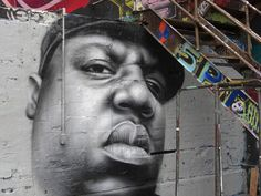 The Notorious BIG on the wall.