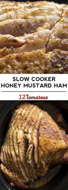 Slow Cooker Honey Mustard Ham