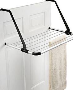 Brabantia Laundry Drying Rack, Over the Door - Laundry & Closet Organization - Cleaning & Organizing - Macy's (small apartment closet organization)