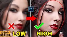 How to Depixelate images And Convert Into High Quality Photo in Photosho...