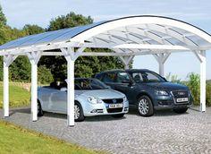 Une belle arche pour votre extérieur qui vous permettra de ranger deux voitures, et de donner une touche design. Six pieds pour une grande robustesse!