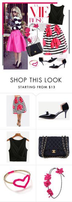 """SheIn.com 9/7"" by bebushkaj ❤ liked on Polyvore featuring Chanel, Jordan Askill and Lanvin"