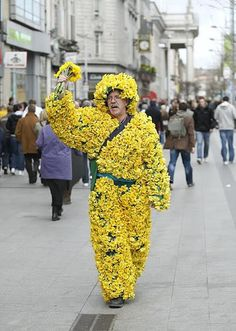 A new Welsh symbol? The daffodil man! Welsh Symbols, My Father, Fathers, Daffodils William Wordsworth, University Of Wales, Jane Davies, Saint David's Day, Welsh Rugby, Highland Games