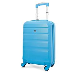 Lightweight Trolley Hard ABS Carry On Cabin Hand Luggage Suitcase IATA Approved #LightweightTrolley #Suitcase