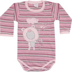 Body de Bebê Menina com Bordado Listrado - Patimini :: 764 Kids | Roupa bebê e infantil