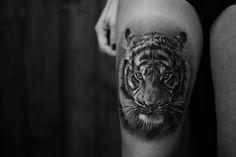 Tiger thigh tattoo - 55 Awesome Tiger Tattoo Designs  <3 <3