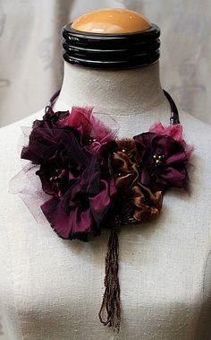 CABERNET Statement Bib Necklace Purple Plum by carlafoxdesign, $145.00