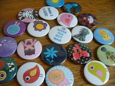 A really cute set of button badges. We hand make badges in the UK and ship worldwide