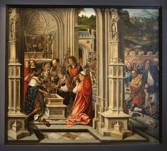 Bernard van Orley : Scene in a church (Galleria Sabauda, Turin) 1487/1491-1541 ベルナールト・ファン・オルレイ