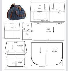 99478928 Black satchel bag - The 2 Left Hand - myriam- Sac besace noire – Les 2 Mains Gauches – myriam Black satchel bag – The 2 Lef. Denim Backpack, Denim Bag, Mochila Jeans, Black Satchel, Satchel Bag, Modelista, Recycle Jeans, Wallet Pattern, Old Jeans