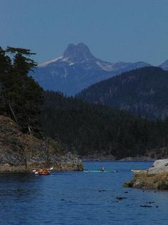 View from Quadra Island with Mt. Dougie Fowler in background