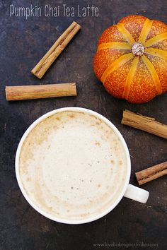 This Pumpkin Chai Tea Latte is perfectly spiced and its a delicious way to warm up on these cooler Fall days.