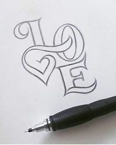 r official giveaway check out yesterday's post ! For more hand lettering inspiration and awesome hand lettering tutorials intervi. - Tattoo For Women Quotes for Fun QUOTATION – Image : As the quote says – Description Caligraphie coeur Sharing is love, Pencil Art Drawings, Easy Drawings, Drawing Sketches, Drawing Tips, Cute Love Drawings, Quote Drawings, Tattoo Sketches, Drawing Ideas, Cute Images To Draw