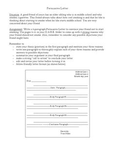 persuasive business letter topics