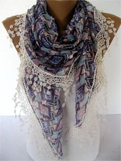 NEWElegant Scarf with Trim Edge Fashion Scarves by MebaDesign, $17.90