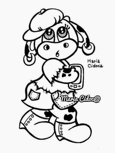 Riscos graciosos (Cute Drawings): Riscos de vaquinhas (Cows)