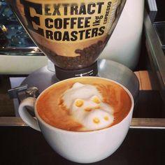 3D Latte art- Hippo