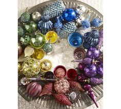Jewel Tone Ecelctic Beaded Spire Ornaments, Set of 4 | Pottery Barn