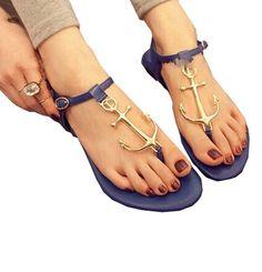 Minetom Femme Chaussure de Plage Plate Sandales ancre Bout Ouvert Sandales EUROPE Taille ( Noir EU 37 ): Amazon.fr: Vêtements et accessoires