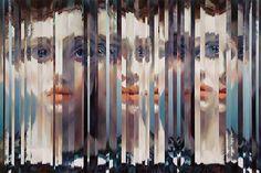 Sliced Portraits by Amanda Clyne - Feel Desain Glitch Art, Hall Of Mirrors, Ap Studio Art, Colossal Art, Gcse Art, Creative Portraits, Mirror Image, Famous Artists, Art Studios